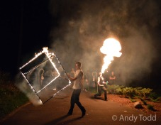 Travel - Silene,Latvia - 7 August 2015 Fire show Mandatory Credit: Andy Todd